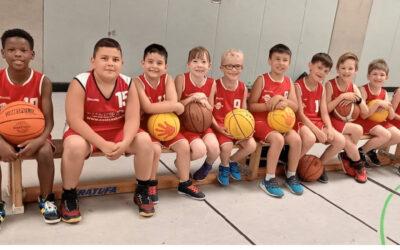 Historischer Moment: Erstes U10-Spiel der Basketballabteilung